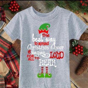 Cute Christmas Cheer Elf Tee